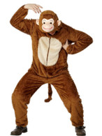 "Monkey Costume, Adult, Chest 42""-44"", Leg Inseam 33"""