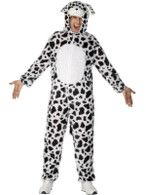 "Dalmatian Costume.  Chest 38""-40"", Leg Inseam 32.75"""