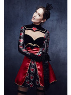 Fever Queen Of Hearts Costume, with Dress, UK 12-14