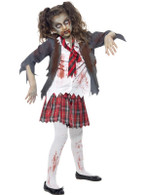 Zombie School Girl Costume, Medium