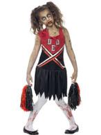 Zombie Cheerleader Costume, Medium