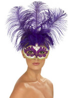 Purple Can Can Beauty Eyemask  Feather, One Size