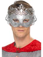 Columbine Silver Mask.  One Size