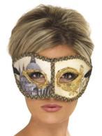 Venetian Colombina Venice Mask.  One Size