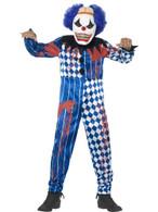 Deluxe Sinister Clown Costume, Medium Age 7-9