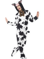 Cow Costume, Small Age 4-6, Children's Children's Animal Fancy Dress