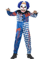 Deluxe Sinister Clown Costume, Large Age 10-12