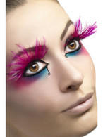 Eyelashes, Pink Feather Pumes
