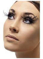 Feather Plume Eyelashes, Black