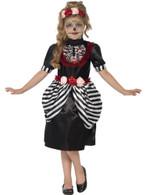 Sugar Skull Costume, Medium Age 7-9