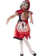 Zombie Miss Hood Costume, Medium Age 7-9