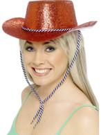 Cowboy Glitter Hat, Red