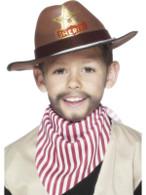 Cowboy Hat  Sheriff Badge