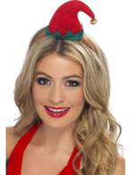 Mini Elf Hat on Headband, One Size