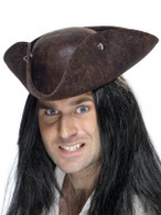 Pirate Tricorn Hat, Distressed Look