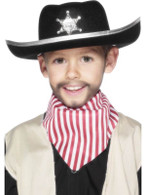 Sheriff Hat, Child Size, Black