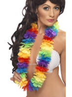 Bright Large Rainbow Lei.