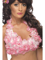 Hawaiian Flowered Halterneck Top, One Size