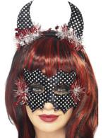 Devildina Mask and Horns Set, Black