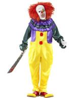"Classic Horror Clown Costume, Chest 38""-40"", Leg Inseam 32.75"""