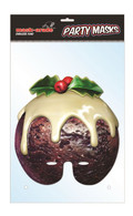 Christmas Pudding Character Face Card Mask