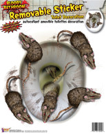 Bloody Rat Toilet Seat Stickers