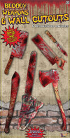 Bloody Weapon Cut Out Set