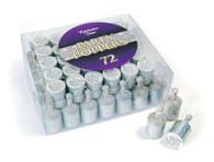 Party Poppers. Silver Holographic