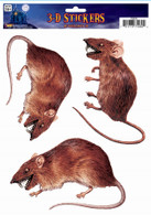 Window Sticker 3D Rat