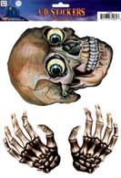 Window Sticker 3D Skull Head