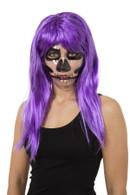 Transparent Mask Skeleton Print