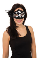 Harlequin Eyemask with Side Feather