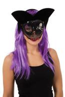 Transparent Sugar Skull Pirate Eye Mask