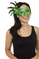Green with Side Decoration (Glasses Frame) Eye Mask