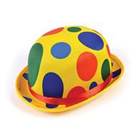 Polka Dot Clown Bowler Hat, Spotty
