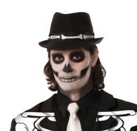 Skeleton Fedoran Hat, Halloween/Bones
