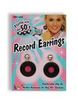 Record Earrings, 1970s 1980s