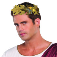 Roman Laurels. Gold leaf, Greek, Toga Party Headwear, Fancy Dress