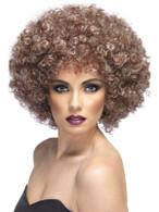 Curly Blonde & Brown Afro Wig, Afro Wig. Mega Huge 1970's , Fancy Dress