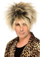 Short Blonde Spikey Wig, Wild Boy Wig, 1980's Popstar, Fancy Dress Accessory