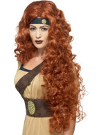 Medieval Warrior Queen Wig, Tales of Old England Fancy Dress