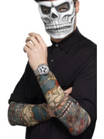 Day of the Dead Tattoo Sleeve, Cosmetics and Disguises, MULTI