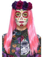 Day of the Dead Sweetheart Make-Up Kit, Stickers & Eyelashes, Halloween