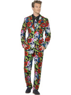 Day of the Dead Suit, Large, Halloween Fancy Dress, Mens