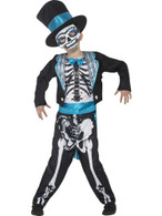 Day of the Dead Groom Costume, Medium Age 7-9, Halloween Fancy Dress, Boys