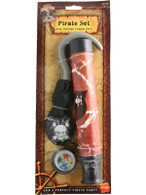 Pirate Set with Compass, Telescope and Hook