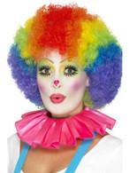 Pink Clown Neck Ruffle, Funnyside Fancy Dress. One Size