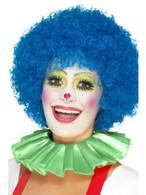 Green Clown Neck Ruffle, Funnyside Fancy Dress. One Size