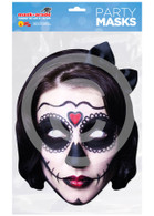 Day of the Dead Card Mask Spanish Lady