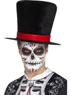 Day of the Dead Top Hat, Mexican Day of The Dead/Sugar Skulls. One Size